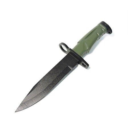 Faca M9 Baioneta Em Polímero C/ Bainha Verde Bélica