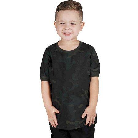 Camiseta Infantil Soldier Kids Camuflado Multicam Black Bélica