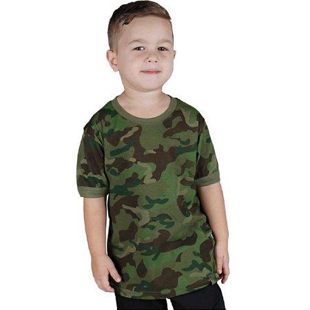 Camiseta Soldier Kids Camuflado Bélica Tropic