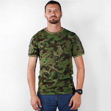 Camiseta Tática Masculina Ranger Bélica Camuflado Tropic