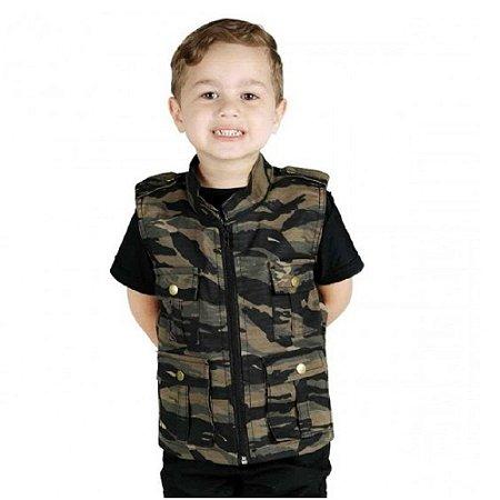 Colete Infantil Army Camuflado Tiger Treme Terra