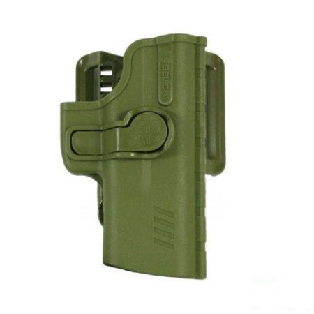 Coldre Pro SR1 Em Polímero C/ Adptador de Cintura Bélica Destro - Verde