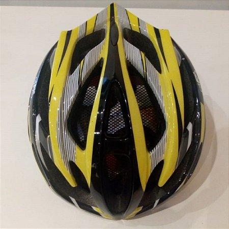 Capacete de Ciclismo Inmold Top All Company - Amarelo e Preto