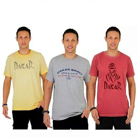 Kit 3 Camisetas Dakar Sortidas