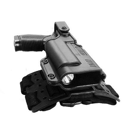 Coldre Black Light Bélica Em Polímero Destro - Preto (Novo Modelo)