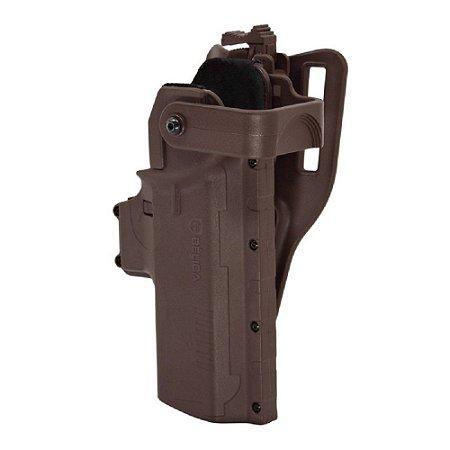 Coldre Hammer I Pro Em Polímero Bélica Canhoto - Marrom