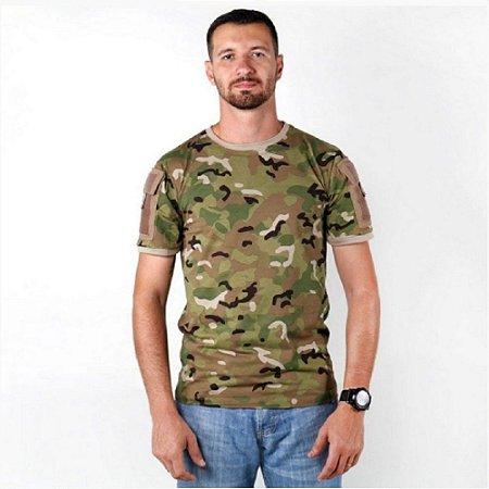 Kit Com 4 Camisetas Masculina Ranger Camuflada Bélica