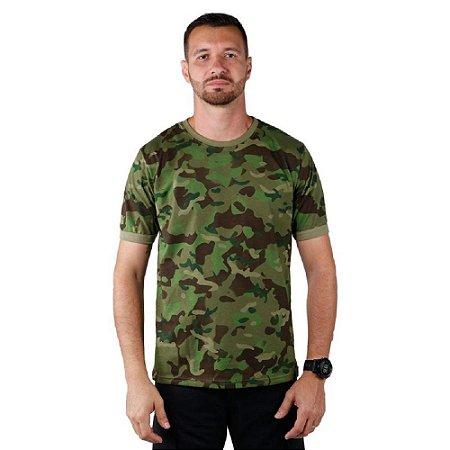 Kit Com 4 Camisetas Masculina Soldier Camuflada Bélica