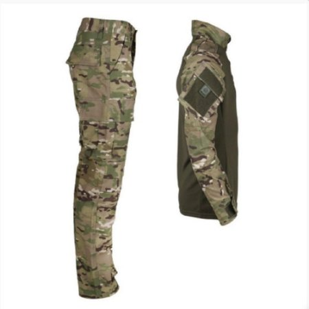 Farda Tática Bélica - Calça e Combat Shirt Camuflada Multicam