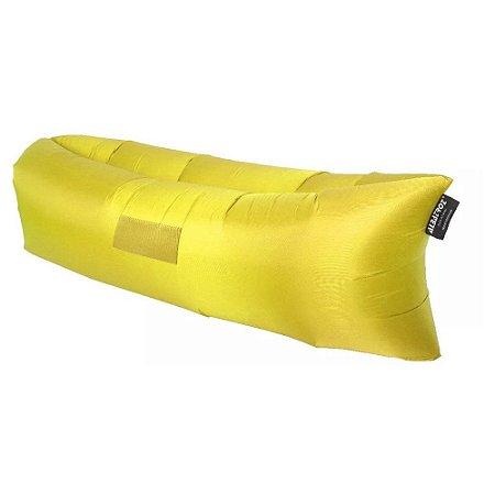 Sofá Inflável Preguiçosa Albatroz - Amarelo