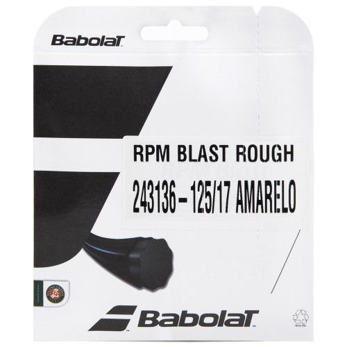 CORDA BABOLAT RPM BLAST ROUGH 17L 1.25MM AMARELA - SET