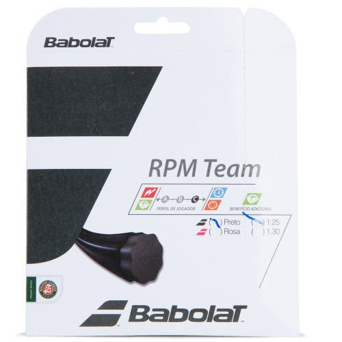 CORDA BABOLAT RPM TEAM 17 1.25MM PRETA - SET