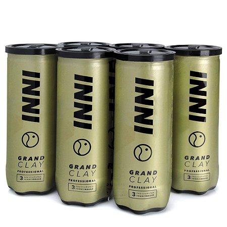 Bola De Tênis Inni Grand Clay Premium Pack Com 6 Tubos