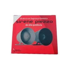 Sirene Compacta 120db Bitonal 12v - Preto