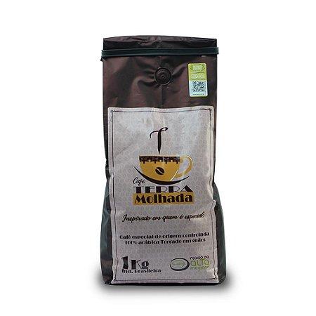 Café Terra Molhada torrado em grãos 1kg