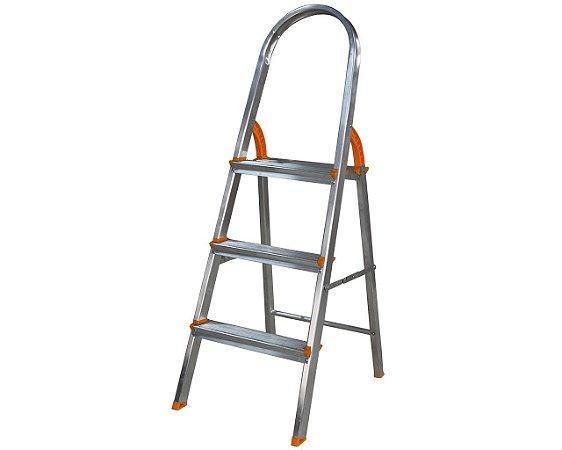 Escada de Alumínio Soft Doméstica 3 Degraus EDS003