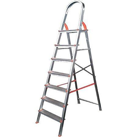 Escada de Alumínio Soft Doméstica 8 Degraus EDS008