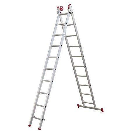 Escada Extensiva de Alumínio 10 Degraus ENE10 Ágata