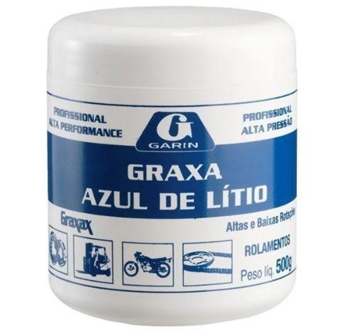 Graxa de Litio Azul para Rolamentos Garin - 500 gramas