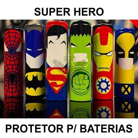 "Wrap Super Hero p/ Bateria 18650 ""Adesivo"""