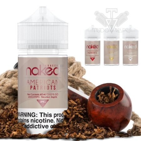 Naked Tabaco 60ml - American Patriots / Cuban Blend / Euro Gold - UND