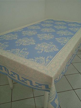 Toalha de Mesa Bruna (Estampa Persa Azul) - Tecido com Impermeabilidade
