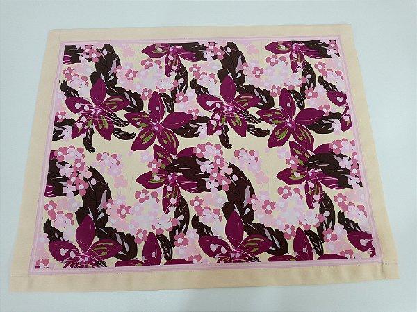 Unidade Jogo Americano Impermeável Floral Violeta