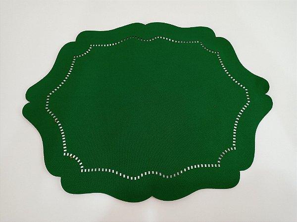 Jogo Americano Dublado Oval Liso Verde