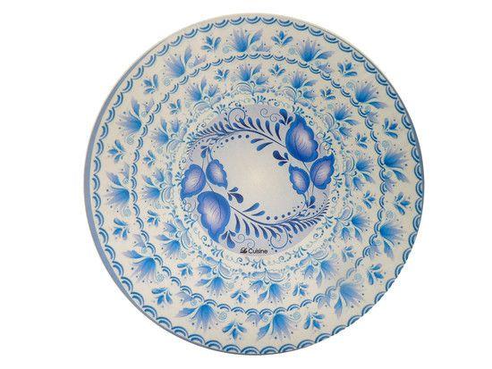 Sousplat Sublimado Azul floral - Kit c/4 (Capa + MDF) - cod.10