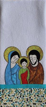 Pano de Prato em Patchwork Santos - Sagrada Família (cod.02)