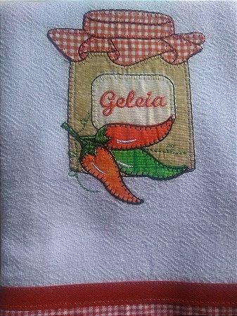 Pano de Prato em Patchwork  - geleia pimenta (cod.32)