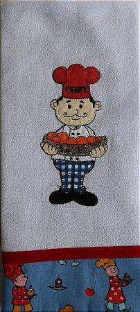 Pano de Prato em Patchwork - chef (cod.72)