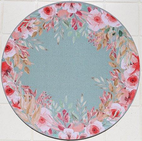 Capa de Sousplat em tecido poliéster  Sublimado - Flores e Borboletas