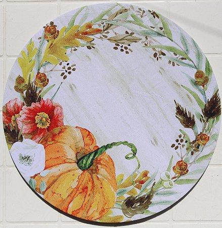 Capa de Sousplat em tecido poliéster Sublimado - Moranga (cod.34)