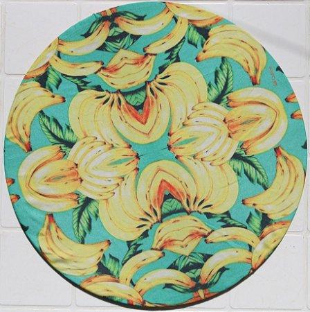 Capa de Sousplat em tecido poliéster  Sublimado - Bananas (cod.29)