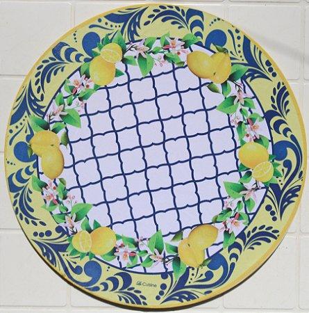 Capa de Sousplat em tecido poliéster  Sublimado - Limões (cod.17)