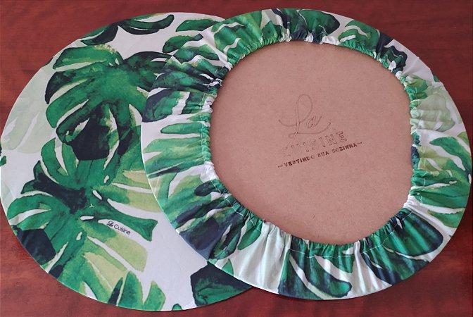 Capa de Sousplat em tecido poliéster  Sublimado - Costela de Adão (cod. 26)