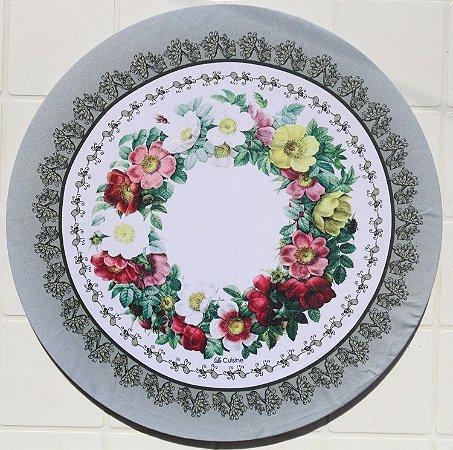 Capa de Sousplat em tecido poliéster Sublimado- Flores do Campo (cod.08)