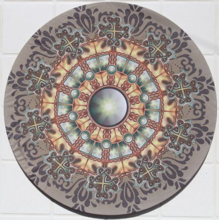 Capa de Sousplat em tecido poliéster Sublimado -  Mandala c/ núcleo - (Cod.001)