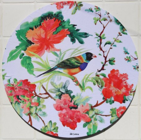 Capa de Sousplat em tecido poliéster  Sublimado - Pássaro (cod.38)
