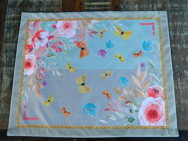 Jogo  Americano 4 peças - flores e borboletas (cod.0059) BLACK FRIDAY