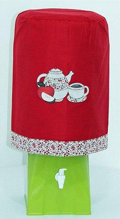 Capa de Galão de Água 20 litros - Cor: Vermelho