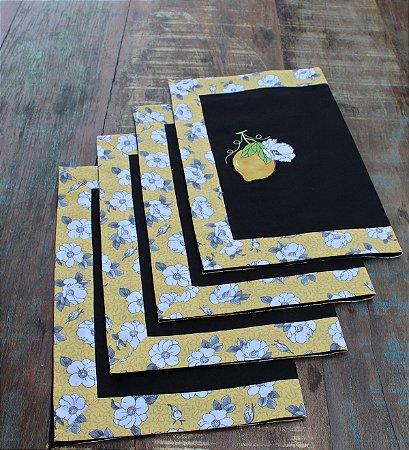 Jogo Americano Brim 6 peças - Limão Siciliano