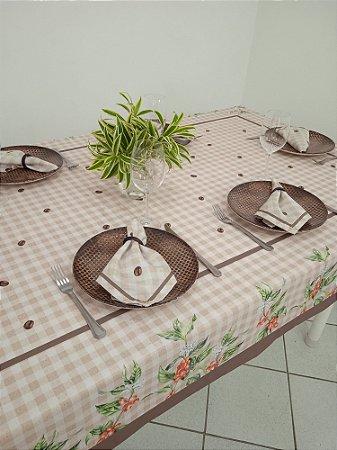Toalha de Mesa Ana (Café) - Linho
