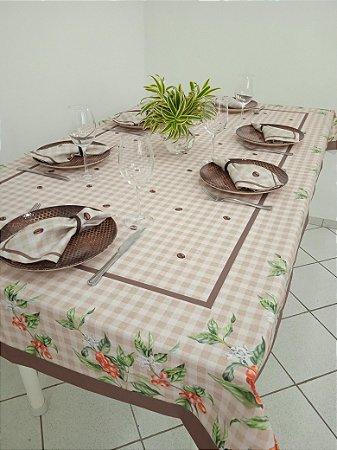 Toalha de mesa Ana (café) - Tecido com Impermeabilidade
