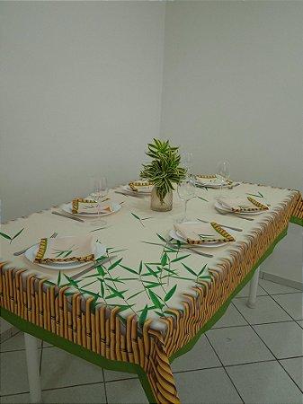 Toalha de Mesa  Luna (Bambu folhas) - Tecido com Impermeabilidade