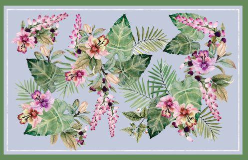 Toalha estampa Flores aquarela - Tecido com Impermeabilidade