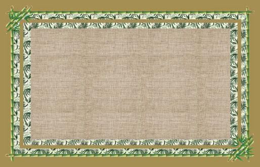 Toalha de  Mesa Bambu verde - Tecido com Impermeabilidade