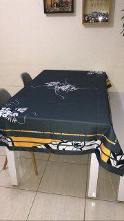 Toalha de Mesa Lia (Cinza Ibisco) - Tecido com Impermeabilidade