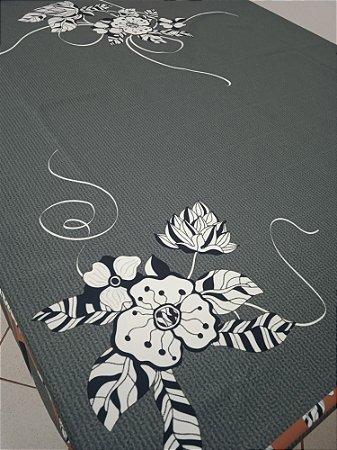 Toalha de Mesa Lia (Cinza Ibisco) - Linho